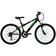 "WST BTT Sniper Bicicleta Montaña, Niños, Negro / Verde, 24"""