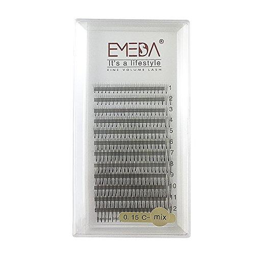 Emeda 3d w 0.070.100.15c d curl 8–14mm mix volume cluster extension ciglia ciglia finte