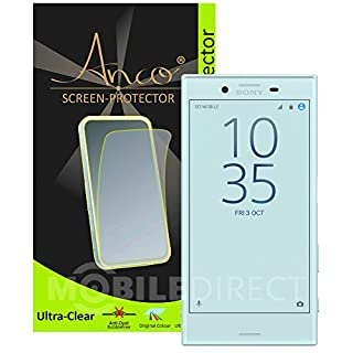 'Anco Premium Screen Protector Ultra Clear for Sony Xperia X Compact–Realistic Look and Scratch Resistant.–(Contains: 1x Screen Protector and Polishing Cloth