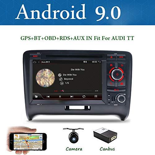 BXLIYER Android 9.0-2 Din Autoradio Compatible para Audi TT 2006-2011 Coche Navegacion...