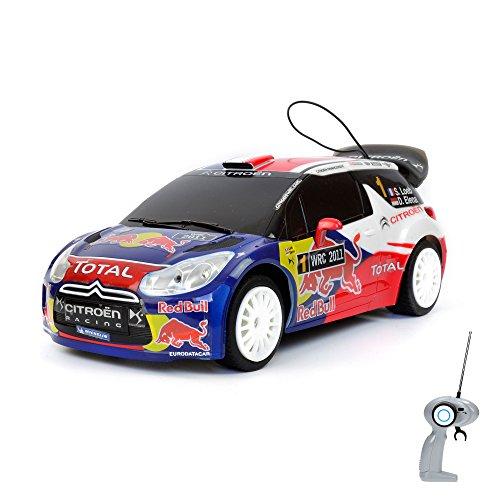 Citroen Red Bull DS3 WRC Rallye-Edition - RC ferngesteuertes Lizenz-Fahrzeug im Original-Design, Modell-Maßstab 1:16, Ready-to-Drive, Auto inkl. Fernsteuerung und Batterien, Neu