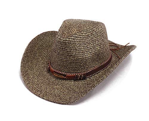Baishide Damen Sonnenhut Stroh-Stoffcap Sport Visoren Hüte Faltbarer Panama Cowboy Hut (Grün)