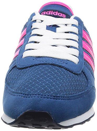 adidas  City Racer W, chaussure de sport femme Core Blue / Shock Pink / Mystery Blue