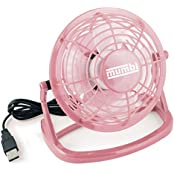 mumbi MUMBI_3039, mumbi USB Tisch Ventilator Mini Fan Venti für Computer Notebook Laptop rosa