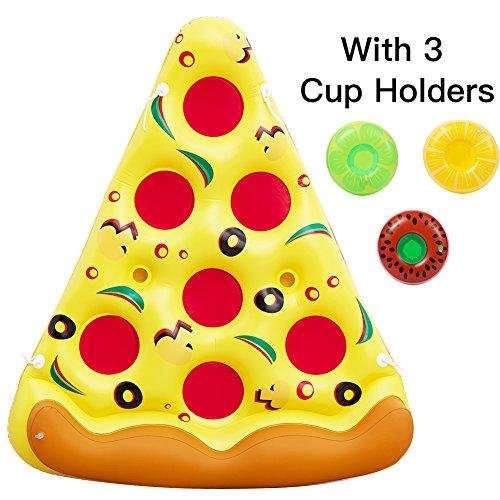 ThinkMax 6 x 5 piedi PVC gonfiabile Pizza piscina galleggiante Zattere, piscina all\'aperto Float Lounge giocattolo per bambini e adulti