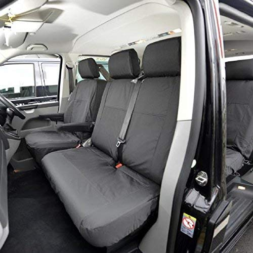 WATERPROOF 100/% VW TRANSPORTER T5 VAN SEAT COVERS GREY DIAMOND IN STOCK!!!