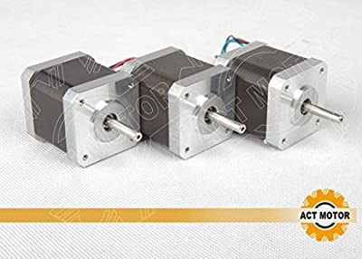 Act GmbH 3pcs Nema17Stepper Motor 17HM54242.4A .942cm Stepper Motor 48mm
