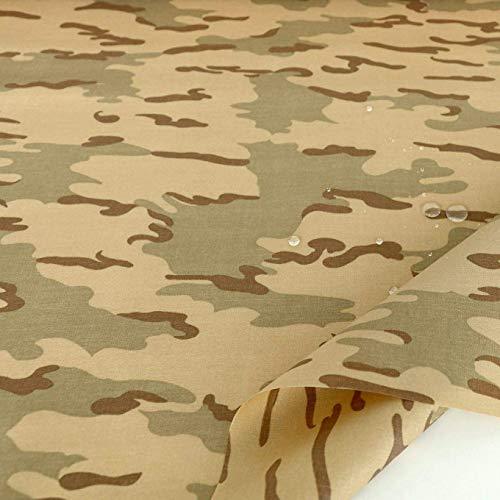 TOLKO Camouflage Stoff aus Cordura Nylon   Wasserdicht, Reißfest, Extrem robust   Segeltuch Meterware im Wüsten Flecktarn der holländischen Armee   mittelschwer 150cm breit (Niederlande beschichtet) (Zivil-kleidung Damen)