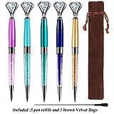 Evneed 7 penne a sfera in metallo con diamante per donne, colleghe, hostess e fidanzata 5 Colors
