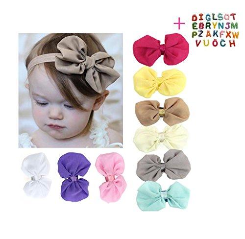 Malloom® 9PCS Babys Girls Chiffon Flower Elastic Headband Photography Headbands