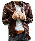 SKY LINE OCEAN Genuine Leather Jacket (100% Pure Leather & Genuine Leather) for Men (Dark Brown Colored)