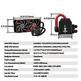 DeepCool CAPTAIN 240EX Refrigeración Líquida CPU Cooler AIO con LED Rojo, Refrigerador Liquido Silencio con 240mm PWM Ventilador Doble (AM4 Compatible), Color Negro