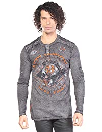 Affliction - - Ac Warpath Longsleeve Therm Henley pour hommes