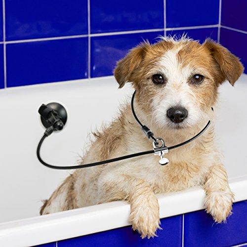 Last Leash Letzten Leine Hund Baden Badewanne Zurückhaltung-Tether Gurt Hält Hund in Badewanne-Upgraded Saugnapf für Jede Oberfläche -