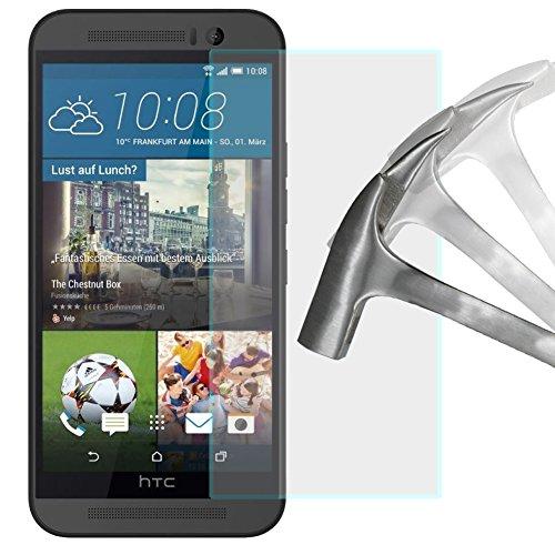 2x Schutzglas Panzerglas für HTC One M9 Schutzfolie Bildschirmschutzfolie Echt Glas Panzer Folie Screen Protector von Lanboo