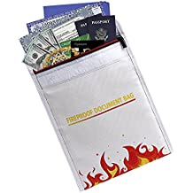 SlayMontag Feuerfeste Tasche Nicht juckend 38,1 x 30,5 x 12,7 cm Feuer- und wasserfeste H/ülle zum Schutz von Schmuck mit Griff Bargeld f/ür Dokumente und Geld doppellagiger Hitzeschutz stark