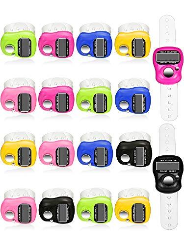 18 Stück Handzähler 5 Digitaler Fingerzähler Clicker Rückstellbarer Rundenzähler Handheld Mechanische Anzahl Klickzähler, 6 Farben (Clicker Für Die Zählung)
