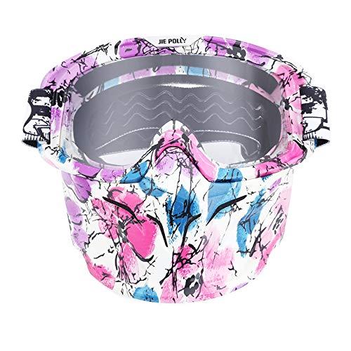 Fahrradbrille Mit Sehstärke Motocross Spiegel Spiegel Retro Schutzbrillen Maskenbrillen Helm Winddichte Brillen Transparent A02 Damen Herren
