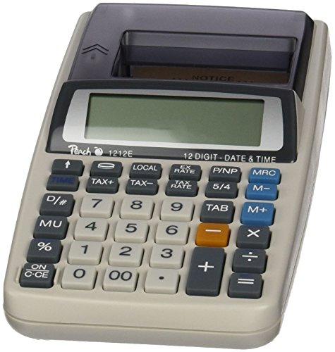 Peach druckender Tischrechner - PR680, 12-stellig, Netzadapter oder Batterie