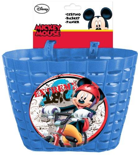 Disney Mickey Mouse Fahrradkorb für Kinderfahrräder mit 2 Laschen Kinder, Blau