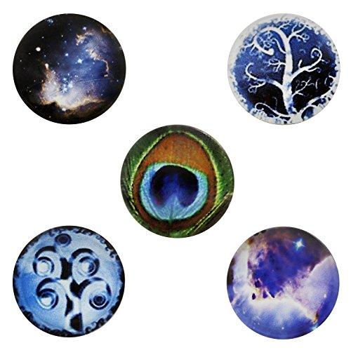 Morella click-button Lot de 5boutons pression pour bijou Force de l'univers