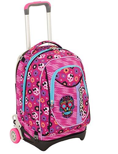TROLLEY SEVEN NEW JACK - MEXI GIRL - Rosa - SGANCIABILE e LAVABILE - Scuola e viaggio