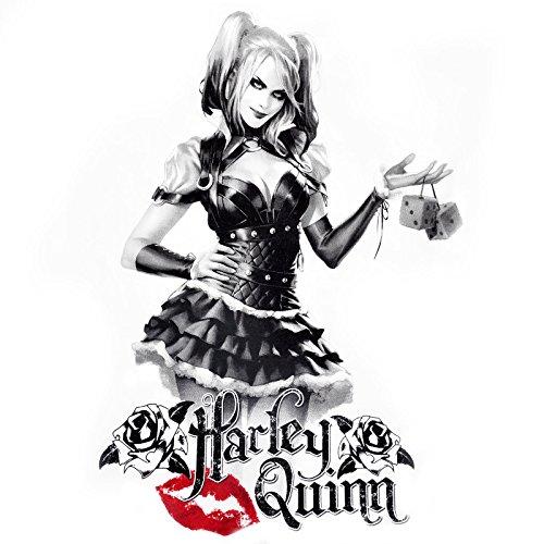 T-shirt girlie Harley Quinn pour dame Time to Play blanc Blanc
