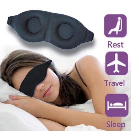 gotobuy-Morbida Sonno maschera Ombra, occhi con imbottitura 3d Sleeping Eye per viaggio/Resto