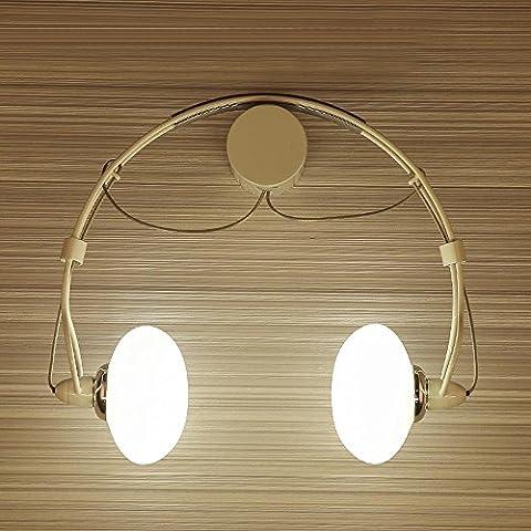 Modern Klassisch Creative Karikatur Design Deluxe LED Kopfhörer Form Wandleuchte Wandlampe Innen minimalistische Metall Glas Wandbeleuchtung 2*G4 max. 20 Watt ,