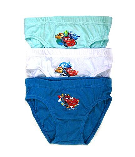 Preisvergleich Produktbild Unterhosen Disney CARS Set 3 Stück 134/140 Baumwolle Kinder Unterwäsche Slip