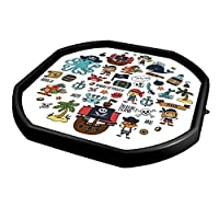 simpa Kids Play Tray Mat - Pirate, Space, Deep Sea & Alphabet Inserts for Mixing Tray