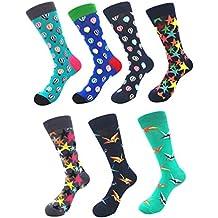 9cc20c3fd61 YoungSoul Chaussettes fantaisie homme et femme - Chaussettes rigolote  chaussette en coton peigné à motifs colorées