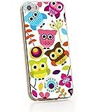 Coconut 1122776 Owls-Eulen Hülle für Apple iPhone 4/4S weiß