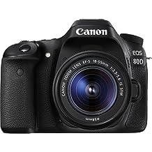 Canon EOS 80D Kit Fotocamera Reflex Digitale da 24.2 Megapixel con Obiettivo EF-S 18-55 mm IS STM, Nero/Antracite