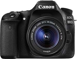Canon EOS 80D SLR-Digitalkamera 3 Zoll Kit inkl. EF-S