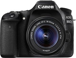 Canon EOS 80D 1263C034 SLR-Digitalkamera (24,2 Megapixel, 7,7 cm (3 Zoll) Display, DIGIC 6 Bildprozessor, NFC und WLAN, Full HD, Kit inkl. EF-S 18-55mm 1:3,5-5,6 IS STM) schwarz (B01C2XJWZ6) | Amazon price tracker / tracking, Amazon price history charts, Amazon price watches, Amazon price drop alerts