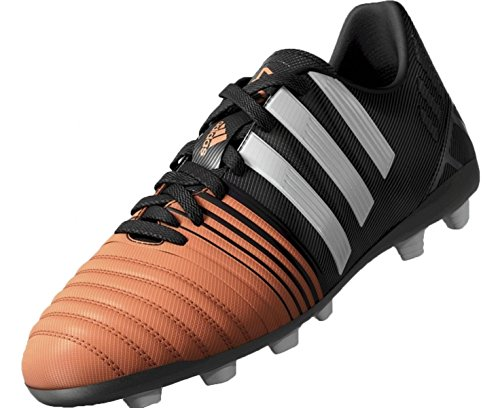 Neuf: adidas Nitrocharge 4.0 FxG Enfant Chaussures de football, Noir Noir/Blanc/Orange