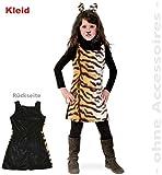 narrenwelt Tiger Kleid Sweet Tisha 128 1tlg PLÜSCH Kinder-Kostüm Fasching