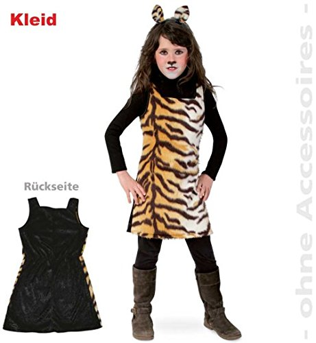 narrenwelt Tiger Kleid Sweet Tisha 128 1tlg PLÜSCH Kinder-Kostüm Fasching