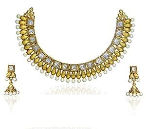 Zaveri Pearls Necklace Set for Women (Multi-Colour) (Zpfk1034)