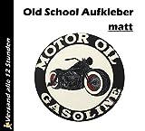 1x Gasoline Oil Old School Motorcycles Aufkleber Sticker Cafe Racer Retro #13