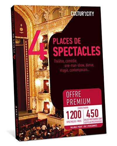 CULTUR'IN THE CITY Coffret Cadeau - 4 Places - 1200 Spectacles Premium - 450 Salles Partenaires Partout en France Théâtre, Comédie, One Man Show, Danse, Magie et Autres !