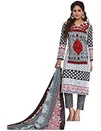 Baalar Women's Cotton Unstitched Dress Material (2008_Multicolor_Free Size By Onkar Trading)