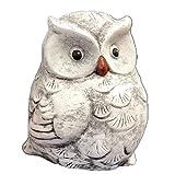 Steinfigur Eule Hedwig, massiver Steinguss, Frost- und Wetterfest