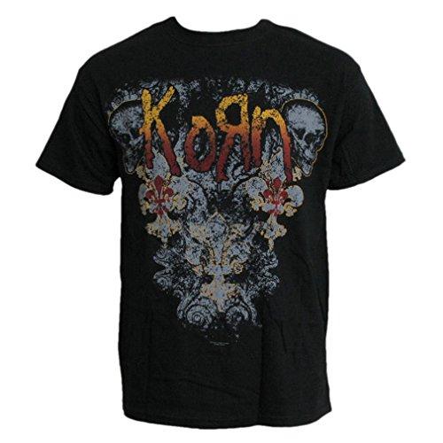 T-Shirt con filagrana uomo - Skulldelis nero Small