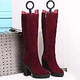 GYHDDP Botas de plástico altas camillas Botas Estereotipos zapatos Stent alargador de zapatos alargados (3 colores disponibles) ( Color : Rojo )