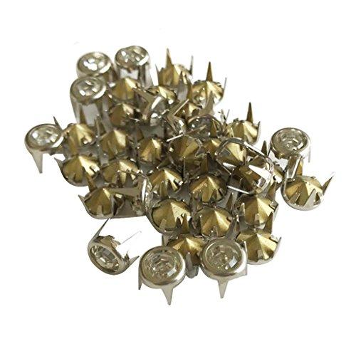 Gazechimp 50 Stück 6 bis 10mm Nieten Strass Steine Crystal Nieten Ziernieten Schraubnieten zum Kleidung Verzieren - Silber, 10 mm -