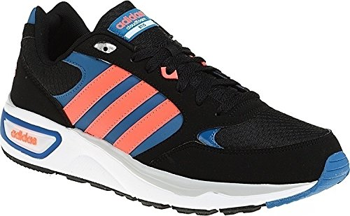 adidas Cloudfoam 8Tis, Zapatillas de Deporte para Hombre, Negro (Negbas / Rojsol / Azuuni), 45 1/3 EU