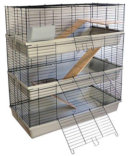 PETGARD Kaninchen- und Meerschweinchenkäfig GRENADA 100 SKY mit 3 Etagen (Misc.)