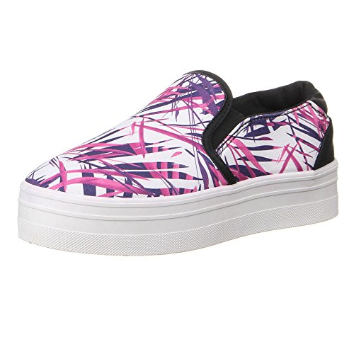 Ital-Design, Sneaker donna Rosa (Rosa/Lilla)